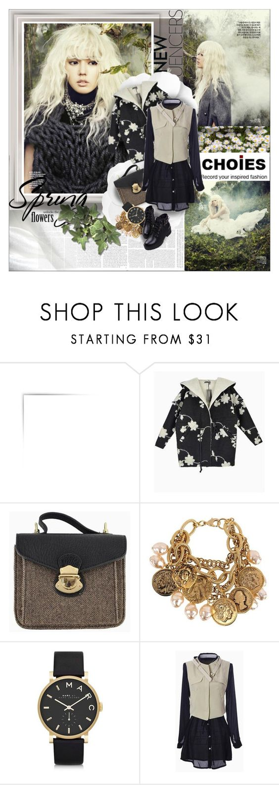 """""""CHOIES"""" by shinee-pearly ❤ liked on Polyvore featuring Yochi and Marc by Marc Jacobs"""