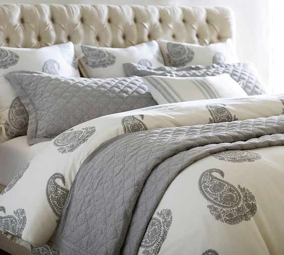 Love the paisley, especially if I added some dark purple sheets or throw pillows
