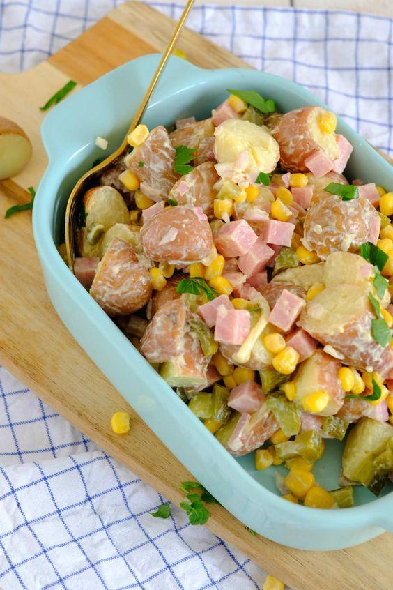 Aardappelsalade met mais