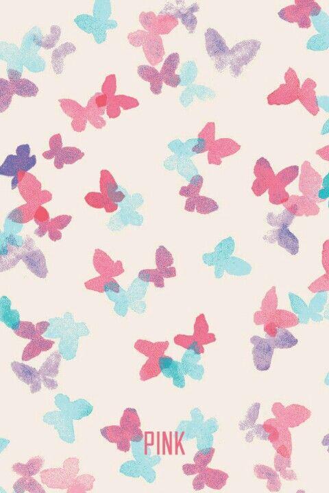 ( vs pink wallpaper) blue, purple, and pink butterflies ...