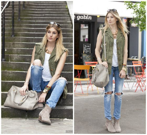 Military vest (by Camille Charrière) http://lookbook.nu/look/3642535-Military-vest