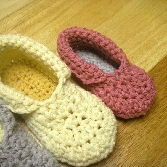 Beginner Crochet Patterns Slippers : Free Crochet Slipper Patterns CROCHET CHILDREN S ...
