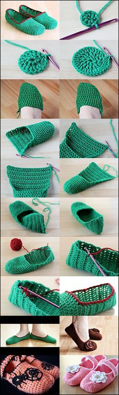 Make It: Crochet Slippers - Free Pattern & Tutorial #crochet: