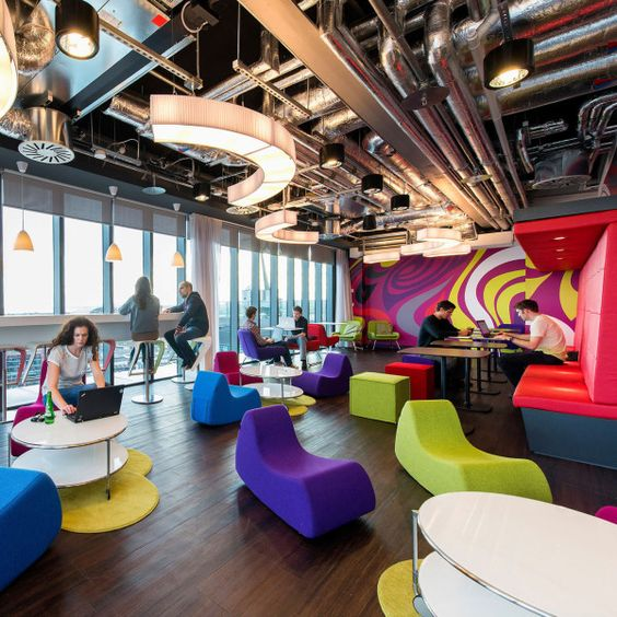 Google Campus Dublin Office Interior Design. We'd love some of that furniture to pair with our Array carpet range!