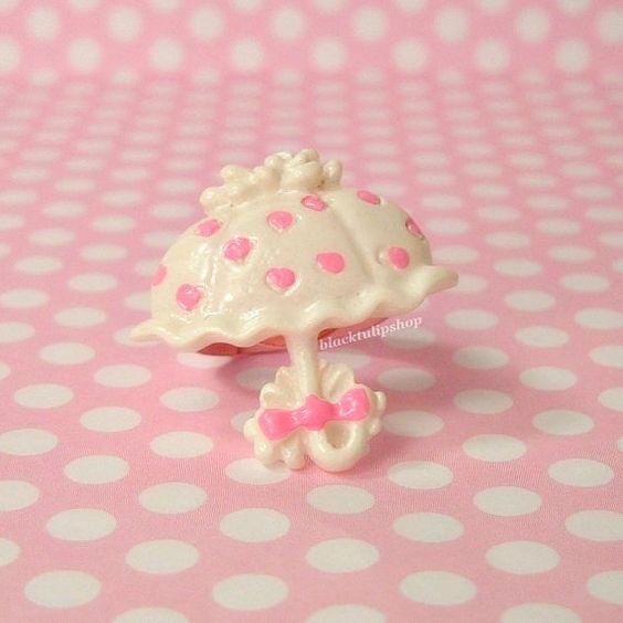 Adjustable Ring Sweet Lolita Parasol Polka Dot by blacktulipshop, $5.00