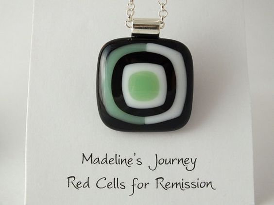 Fused Glass Pendant ModernBlack Mint Green & by madelinesjourney, $14.00  Love how the second layer is two rectangles - makes it very modern.