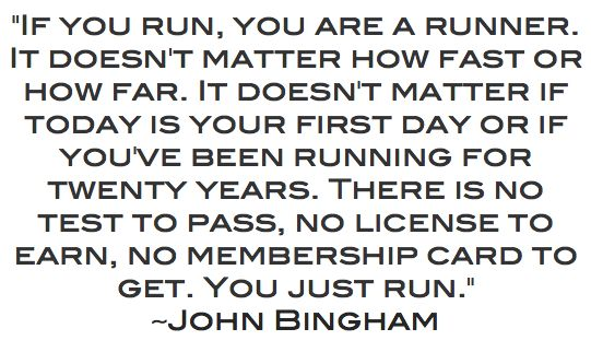 YOU ARE A RUNNER - TRUTH
