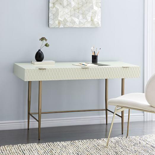 Audrey Mini Desk Parchment Home Office Furniture Home Office