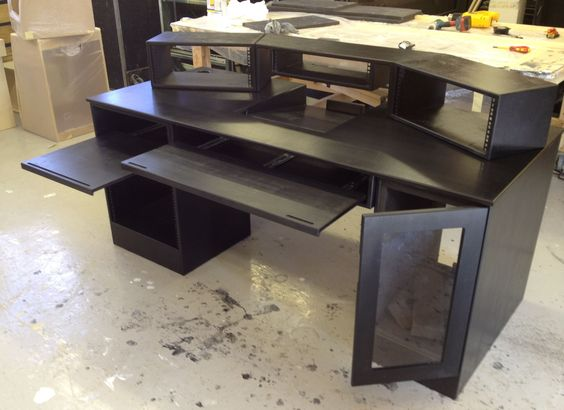 my diy recording studio desk home and interior design. Black Bedroom Furniture Sets. Home Design Ideas
