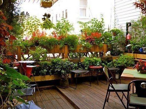 No Yard No Problem Tips For A Beautiful Balcony Garden Youtube Terrace Garden Design Apartment Garden Roof Garden Design