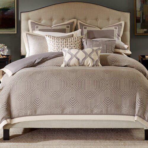 Gray Geometric 8 Piece Comforter Set Comforter Sets Grey Comforter Sets Duvet Cover Master Bedroom