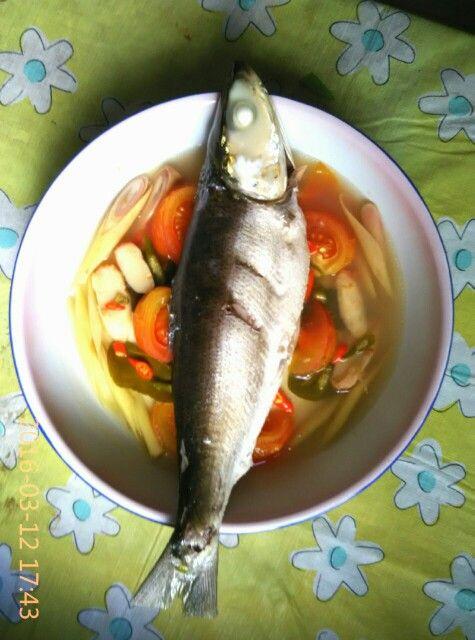 Steamed Milk Fish Tom Yum Style