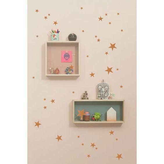 Muurstickers Mini Stars koper