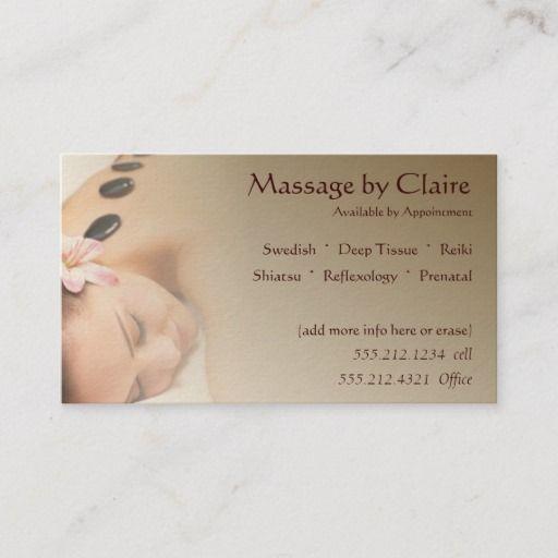 Massage Therapy Business Card Zazzle Com Massage Therapy Business Cards Massage Therapy Business Massage Therapy