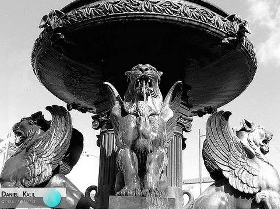 Fonte dos Leões é uma fonte monumental com 8 metros de diâmetro e 6 metros de altura, integrada no sistema de abastecimento de águas ao Porto durante a década de oitenta do século XIX.  Esta fonte, além de decorar a então Praça dos Voluntários da Rainha, proporcionava a indispensável ventilação e oxigenação das águas, bem como o alívio da pressão das condutas.  #FontedosLeões #Arte#DanielKalil #DanielKalilArquitetura #PortoPortugal#Monumento #Lions #PraçadosVoluntários  Projeto: Compagnie…