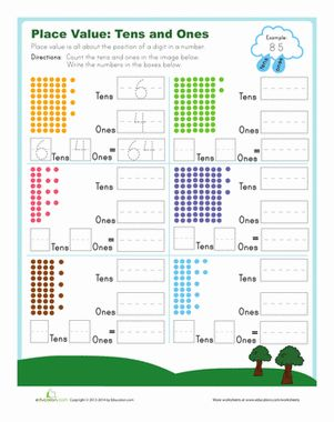 Tens and Ones | Place value worksheets, Tens and ones and Places