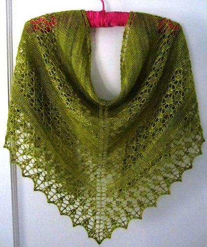 Easy Shawl Knitting Pattern Free : This is a very simple shawl pattern that can be easily