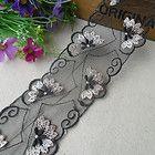 1yd black embroidery organza lace fabric sewing trim wedding doll dress L739 - #Black, #dress, doll, Embroidery, fabric, L739, Lace, Organza, Sewing, trim, Wedding