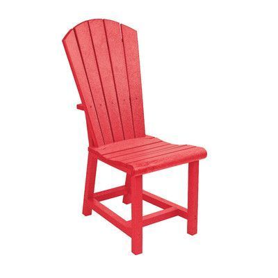 Bay Isle Home Trinidad Dining Side Chair Color: Red