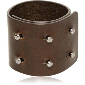 RICK OWENS Leather Cuff Bracelet