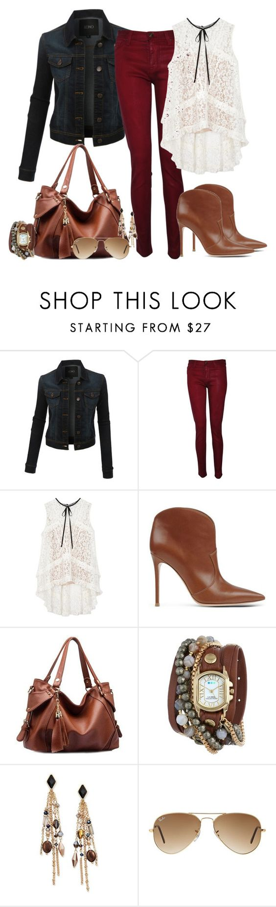 """""""Lace [3]"""" by myxvonwh on Polyvore featuring LE3NO, Hudson, Erdem, Gianvito Rossi, La Mer, INC International Concepts and Ray-Ban"""
