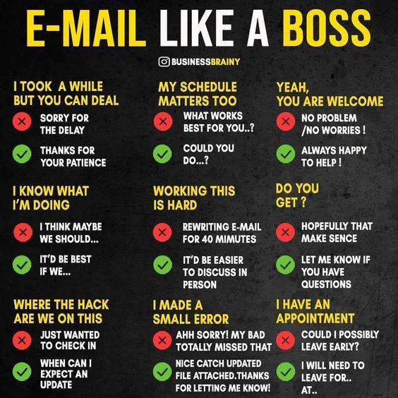 Email - 9 exemples pour répondre comme un boss - infographie