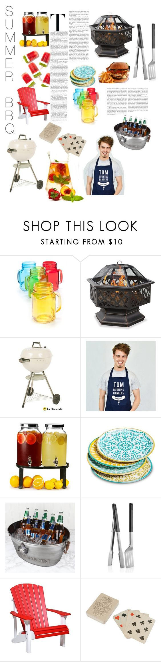 """BBQ BLAST"" by awbreepaigeroo ❤ liked on Polyvore featuring interior, interiors, interior design, home, home decor, interior decorating, Home Essentials, Improvements, La Hacienda and Ellie Ellie"