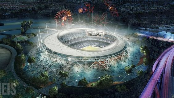 Rendering for a proposed stadium for the San Diego Chargers