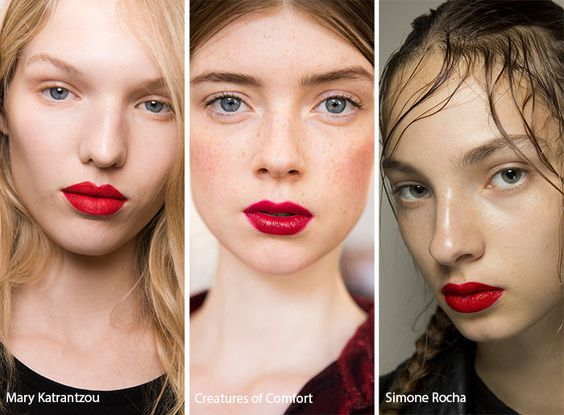 Spring/ Summer 2017 Makeup Trends | Red lips, Beauty and ...