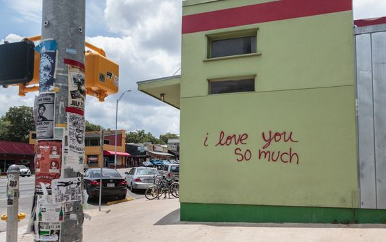"""""""I Love You So Much"""" Graffiti At Jo's Coffee On South"""