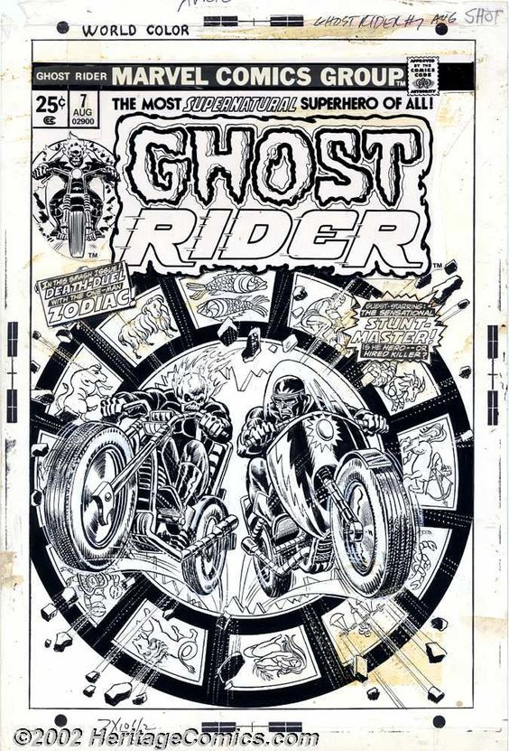 John Romita - Original Cover Art for Ghost Rider #7 (Marvel, | Lot #7352 | Heritage Auctions __ DEUX __