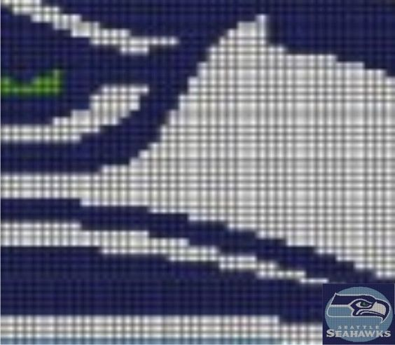 Seattle Seahawks (C8) via Loopaghans Custom Crochet. Click on the image to see more!