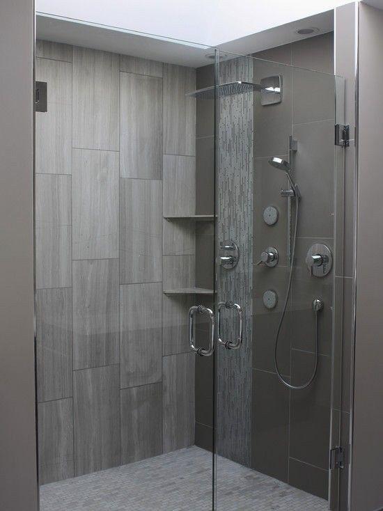 Dark Grey Shower Tile Attractive 24 Perfect Bathroom Tiles Ideas Bathrooms Remodel Bathroom Shower Tile Gray Shower Tile
