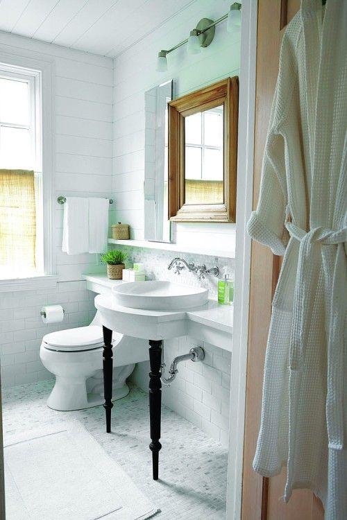 ... bath bathroom small bathrooms shelves legs powder rooms open concept