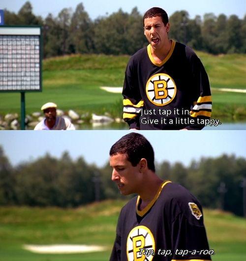 Just Go To Your Homeahhhhhhhaaaaaaaaaaaahahhahahaha Funny Movies Happy Gilmore Quotes Adam Sandler