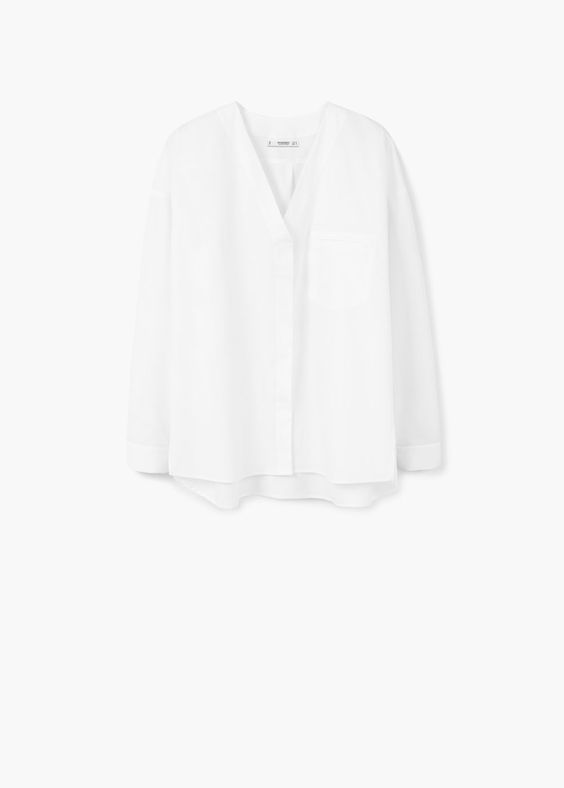 Popeline-hemd | MANGO