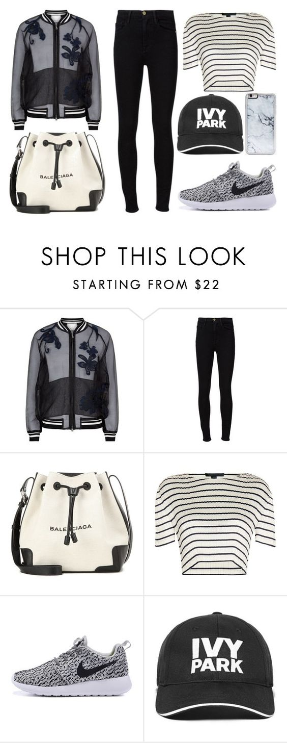 """Florals and Stripes"" by mollie-simmonds ❤ liked on Polyvore featuring 3.1 Phillip Lim, Frame Denim, Balenciaga, Alexander Wang, Ivy Park and Zero Gravity"