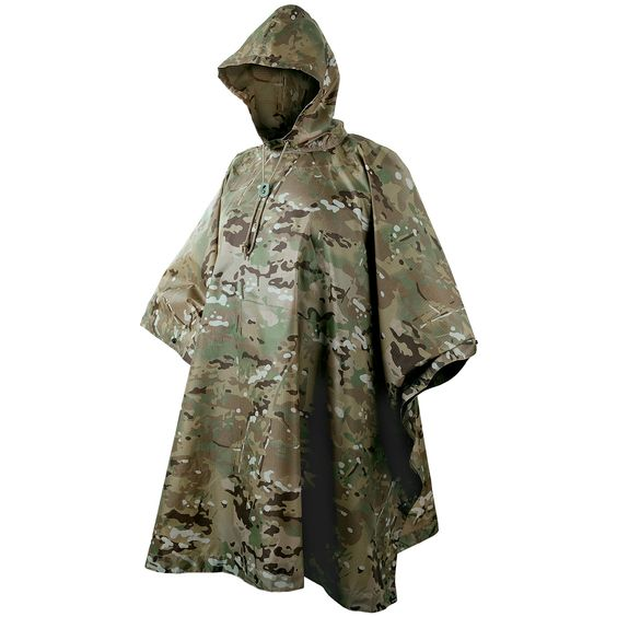 Helikon Waterproof Poncho with Hood features snaps that run along both sides and eyelets on the hem! - Ammo Can Man