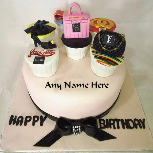 Make New Stylish Birthday Cake With Name Pic Special For Girls