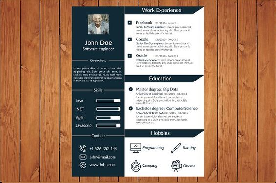 nice THE RESUME CV 2017 CreativeWork247 - Fonts, Graphics, Themes - fonts for resume