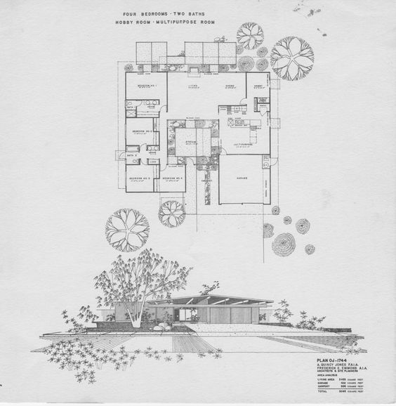 Pinterest the world s catalog of ideas Eichler atrium floor plan