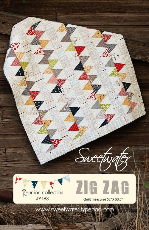 Zig Zag Love Quilt Pattern : another sweetwater quilt that has me giddy...i love every fabric and quilt these guys make ...