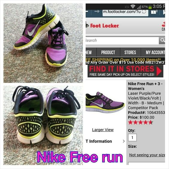 Purple and Neon Nike Free Run Sneakers Gorgeous colors,lightweight and super comfy will get you ready to hit the gym!! Nike Shoes Sneakers