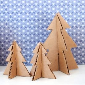 Grab the template and some cardboard to make yourself some uber cute and tiny Christmas trees.: