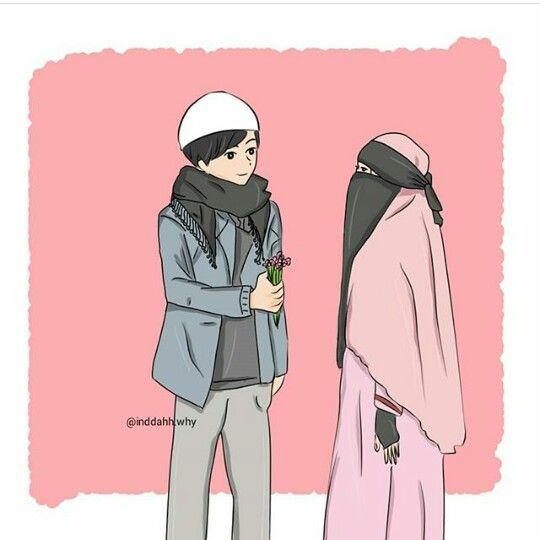 23 Gambar Kartun Muslimah Bercadar Dan Pasangannya Kumpulan Kartun Hd Kartun Ilustrasi Karakter Animasi
