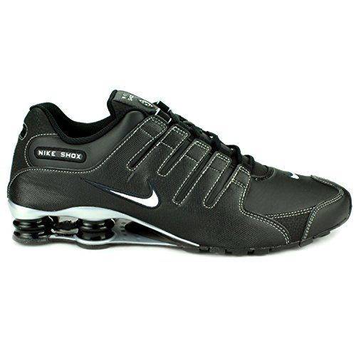 Nike Mens Shox NZ Running Shoes (Black/Metallic Silver-Anthrct, 13)   Nike Mens Shox NZ Running Shoes (Black/Metallic Silver-Anthrct, 13) For the neutral runner seeking maximum responsive cushioning. The stretch fit innersleeve construction provides a sock like fit while the synthetic overlays provide outstanding support. Full-length internal Phylon midsole with forefoot Poron wedge give a smooth ride. Four highly resilient columns work in conjunction with Pebax moderator plates to c..