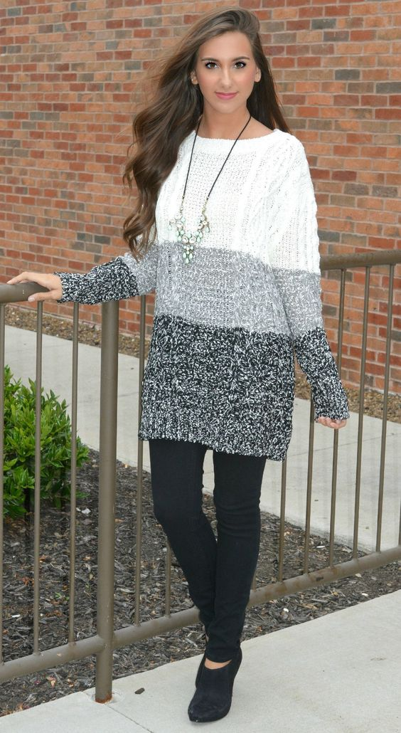 Wear Your Stripes Tunic Sweater