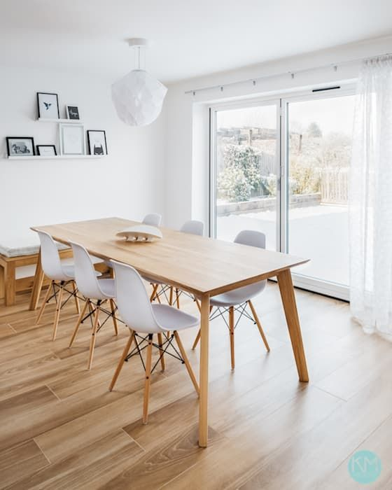 Scandinavian Style Dining Scandinavian Dining Room By Katie Malik Interiors In 2020 Scandinavian Dining Room Open Plan Kitchen Diner Dining Room Design