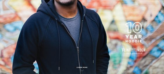 Shop online Flint and Tinder's 10-Year Hoodie at Huckberry; made in the USA & exclusive online deals at Huckberry; free shipping on US orders over $99.