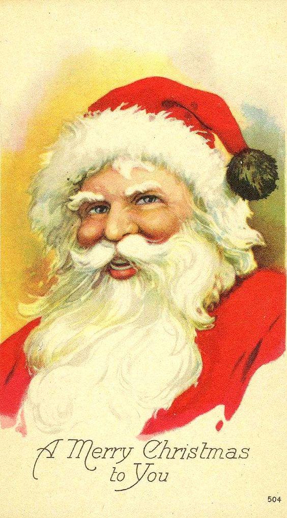 Santa Claus Christmas card.